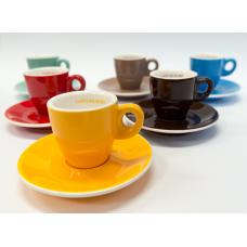 Сервиз цветни чаши кафе ришар - 75 мл