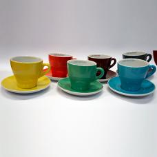 Сервиз цветни чаши кафе ришар - 250 мл