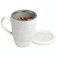 Керамична чаша за чай с цедка
