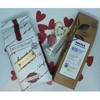 Комплект мляно кафе червен ришар и мляно кафе SOLELA -безкофеиново + подарък