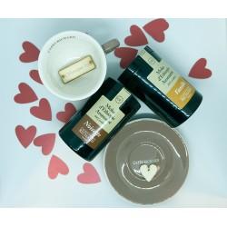Комплект мляно кафе Лешник и Ванилия + голяма чаша пепел от рози