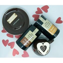 Комплект мляно кафе Лешник и Ванилия + голяма кафява чаша