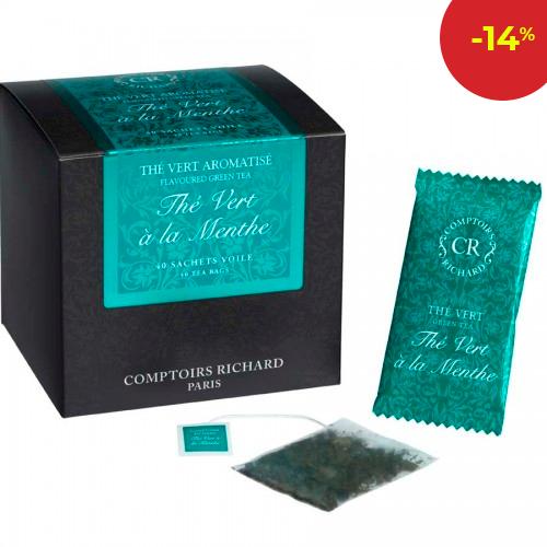 Зелен чай мента- 40 бр.